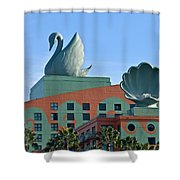 Swan And Shell Shower Curtain