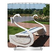 Swan Bench Shower Curtain