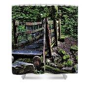 Swan Creek Footbridge Shower Curtain