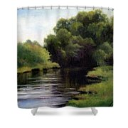 Swan Creek Shower Curtain by Janet King