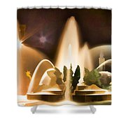 Swan Fountains Shower Curtain