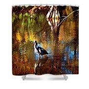 Swan Lake Heron II Shower Curtain