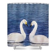 Swan Love Shower Curtain