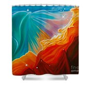 Swan Nebula Shower Curtain