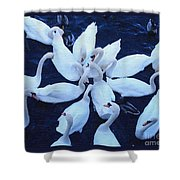 Swan Party Shower Curtain