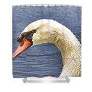 Swan Portrait Shower Curtain