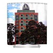 Swan Resort Side View Walt Disney World Shower Curtain