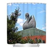 Swan Resort Statue Walt Disney World Shower Curtain