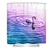 Swan Ripples Shower Curtain