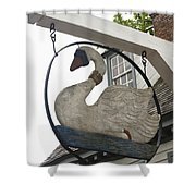 Swan Tavern Sign Yorktown Shower Curtain by Teresa Mucha
