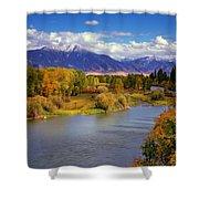 Swan Valley Autumn Shower Curtain