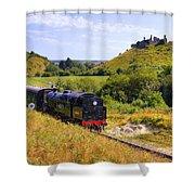 Swanage Steam Railway Shower Curtain