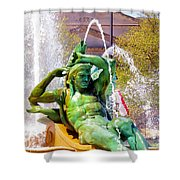 Swann Fountain Gods Shower Curtain