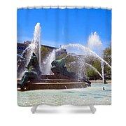 Swann Fountain Shower Curtain