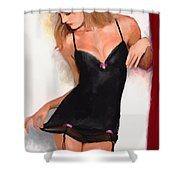 Swanny Shower Curtain