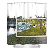 Swans At Roger Williams Park In Providence Rhode Island Shower Curtain