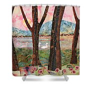 Swans At Teatown Lake Preservation Shower Curtain