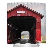 Swartz Covered Bridge Ohio Shower Curtain