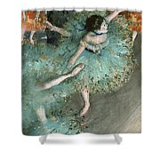 Swaying Dancer .dancer In Green Shower Curtain