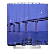 Sweden, The Bridge To The Island Shower Curtain