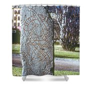 Swedish Runestone Shower Curtain