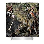 Swedish Vallhund  - Vastgotaspets Art Canvas Print Shower Curtain
