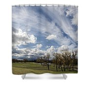 Sweeping Heaven Shower Curtain