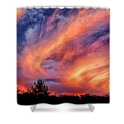 Sweeping Sunset Shower Curtain