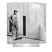 Sweeping The Empire State Bldg Shower Curtain