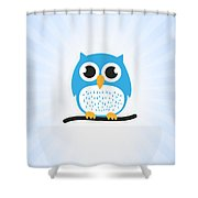 Sweet And Cute Owl Shower Curtain