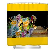 Sweet As Honey - Honey Bees Shower Curtain