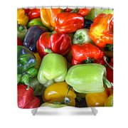 Sweet Bell Peppers Assorted Colors Shower Curtain