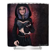 Sweet Betty With Gothic Doll Shower Curtain