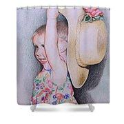 Sweet Caroline Shower Curtain by Kathy Weidner