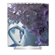 Sweet Cream Lilac Shower Curtain