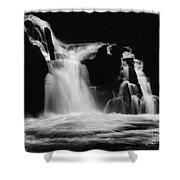 Sweet Creek Falls Oregon Monochrome Shower Curtain