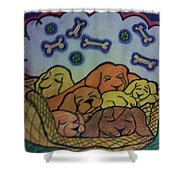 Sweet December Dreams Shower Curtain by Christy Saunders Church