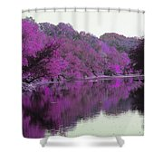 Sweet Fall Reflections Shower Curtain