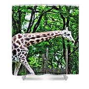Sweet Giraffe Shower Curtain