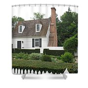 Sweet Home In Colonial Williamsburg Shower Curtain