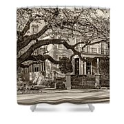 Sweet Home New Orleans 2 Sepia Shower Curtain