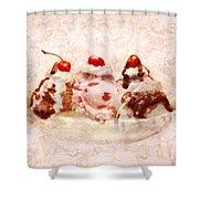 Sweet - Ice Cream - Banana Split Shower Curtain