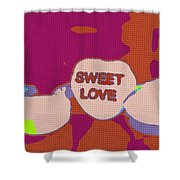 Sweet Love Candy Shower Curtain