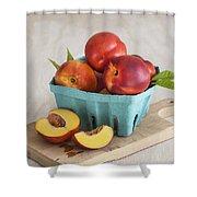 Sweet Nectarines Shower Curtain