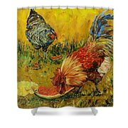 Sweet Pickins, Chickens Shower Curtain