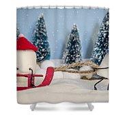 Sweet Sleigh Ride Shower Curtain