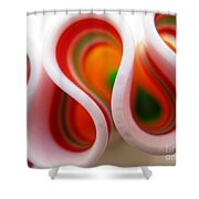 Sweet Waves Of Ribbon Candy Shower Curtain