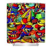 Sweets By Rafi Talby    Shower Curtain
