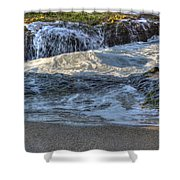 Swell And Receed  Shower Curtain
