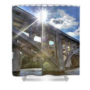 Swift Island Bridge 1 Shower Curtain